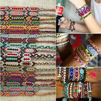 Lucky Braided Woven Thread Friendship Handmade Rope Bohemian Bracelet Pretty