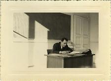 PHOTO ANCIENNE - VINTAGE SNAPSHOT - PROFESSEUR ÉCOLE CLASSE BUREAU - CLASSROOM 2