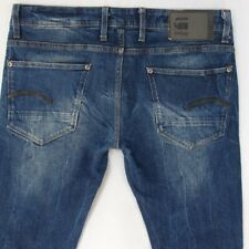Mens G-Star REVEND STRAIGHT Stretch Straight Blue Jeans W33 L30