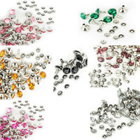8mm Diamante Crystal Rivets Studs for Leather Bags Shoe Biker Fashion Decoration