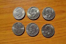 LOTTO 6 MONETE STATI UNITI 1 DOLLARO DOLLAR 1971 1972 1974 1976 1978 SUBALPINA