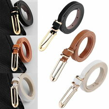 Ladies Slim Waist Belt Thin Skinny PU Leather Belt Women Narrow 5 Colours 1.2CM