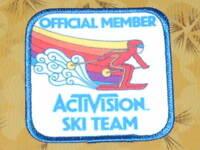 ~ Atari Video Game Vintage 80's Activision Patch -- Skiing Ski Team ~