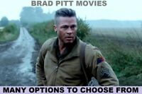 Brad Pitt Movies - Many options to choose from - DVD or Bluray - w/ Free Ship!