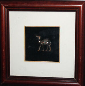 VINTAGE HAND MADE METAL WALL HANGING PLAQUE SILVER PLATED CAMEL