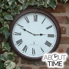 Outdoor Wall Clock Radio Controlled Garden Numerals Indoor Easy Read Station