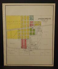 Union Grove Wisconsin Map.Wisconsin 1920 1929 Date Range Antique North America County Maps Ebay