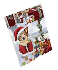 Australian Cattle Christmas Dog Tempered Cutting Board (Large) Db1870