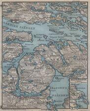 STOCKHOLM EAST ENVIRONS. Saltsjöbaden Molna Vaxholm. Topo-map. Sweden 1912