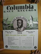 Blind Willie Johnson Poster Columbia Records