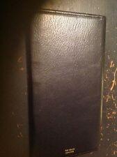 vintage robinson top grain cowhide checkbook holder