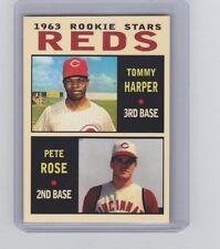 Pete Rose & Tommy Harper '63 Cincinnati Reds rookie stars Pastime series #11
