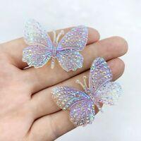 32*43mm DIY Bling Butterfly Crystal AB Resin Rhinestone Flatback Cabochon Stone