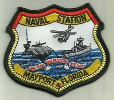 Naval Station Mayport Florida U.S.Navy Patch Aircraftcarrier Fighterjet Helo Fly