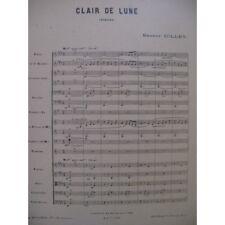 GILLET Ernest Clair de Lune Aubade Orchestre 1930 partition sheet music score