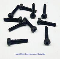 10 Stück Zylinderkopschraube M2,5x20mm.schwarz-Stahl-hochfest 12.9 DIN 912