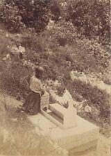 Algérie Cimetière arabe Vintage albumine ca 1875