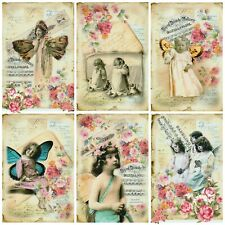 BUTTERFLY WINGS ALTERED ART Card Making Toppers, Card Toppers (12)