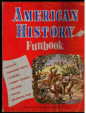 1959 American History Funbook For Kids by Settle G. Beard Boys and Girls 10-14