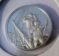1840 WILKES EXPEDITION to ANTARCTIC ~ Franklin Mint Solid Bronze Uncirculated