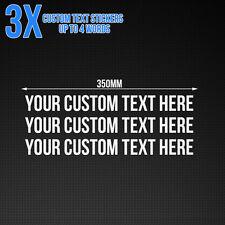 Custom text sticker - Car / Van / Shop Window Vinyl Decal, 350mm x3