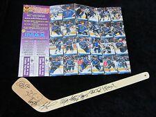 ST LOUIS BLUES Autograph MINI Hockey Stick & Card Set TKACHUK Signed GUERIN +8