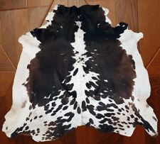 NEW LARGE 100% COWHIDE LEATHER RUGS TRICOLOR COW HIDE SKIN CARPET 21 to 35 SQ FT