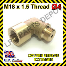 Lambda O2 Oxygen Sensor Extender Spacer for Decat & Hydrogen M18xD4 BRASS Elbow