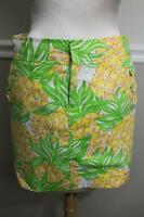 LILLY PULITZER Women's Pineapple Mini Skirt Size 2 (SK100