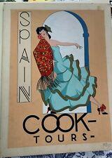 Spain Mid-Century Travel Poster Original Cook Tours Illustrator Art Gauche