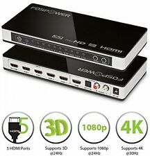 FosPower (5 Ports) 5x1 HDMI Audio Extractor Switch Converter With Optical and -