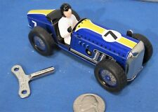 Tin Wind Up Open Race Car ~ Speedway Racer with Display Box & C.O.A.
