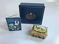 Halcyon Days Enamel Box Game Birds: Pheasant, Quail, Hunting, Dog, Rare Iob $370
