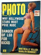 PHOTO Magazine SEPT '66 CLASSIC Nudie ADULT BUSTY LADIES Men's INTEREST Erotica