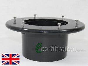 """110MM/4"""" FLANGED TANK CONNECTOR KOI FISH POND PUMP FILTER TANK PIPE FITTING"""