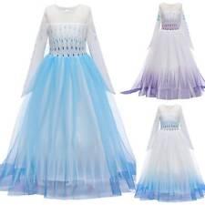 Die Eiskönigin Mädchen Kinder Frozen Elsa Prinzessin Kleid Party Cosplay Kostüm
