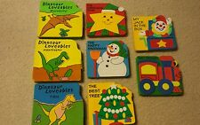 Lot of 8 Foam Board Books Holiday Dinosaur Trains