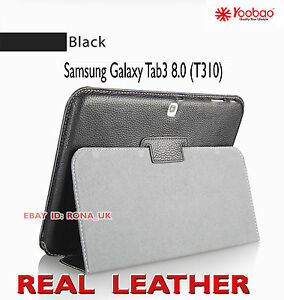 """Executive Real Leather Case for Samsung Galaxy Tab 3 8"""" (T310) Black"""