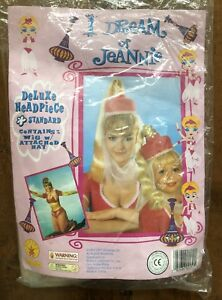 NEW IN PACKAGE I Dream of Jeannie Deluxe Headpiece Wig Attached Hat 1997 Rubies