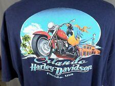 Orlando Harley Davidson T Shirt Florida Motorcycle Parrot Bird Beach Blue 3XL