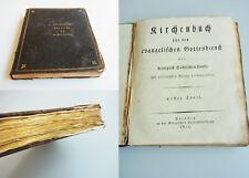 Kirchenbuch 1812 der Kirche zu WANTEWITZ (Priestewitz). --- Leder, Goldschnitt