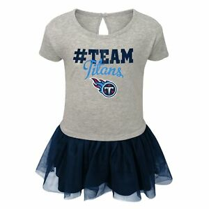 Outerstuff NFL Toddlers Tennessee Titans Short Sleeve Heather Grey Game Dress