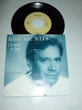 """ROB DE NIJS - T Is Nooit Te Laat - 1987 Dutch 7"""" Juke Box Vinyl Single"""