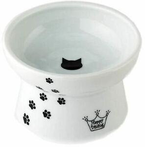 NEW Necoichi Raised Cat Food Bowl Comfort Stress Free Microwave Dishwasher Safe