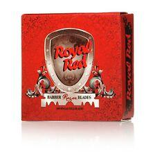 1 Pack Royal Red Single Edge Steel Platinum Coated Razor Blades (100 Blades)