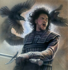 Jon Snow  Original Calandra Airbrush Art Comic Art