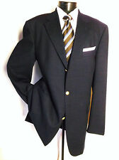 ERMENEGILDO ZEGNA Cloth Blue Textured 3Button Sport Jacket Blazer Size 46 Long