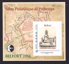 BLOC CNEP N° 71 ** MNH,  SALON PHILATELIQUE PRINTEMPS BELFORT 2016, TB