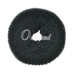 HAIR DOUGHNUT BUN RING SHAPER ONUT UPDO ELASTIC SCRUNCHIE HOLDER 1Pcs7-8cm Black