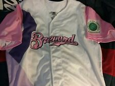 Brevard Manatees 2016 Minor Cancer Cure Signed Jersey Sz 48 T Brennan Nmint Rare